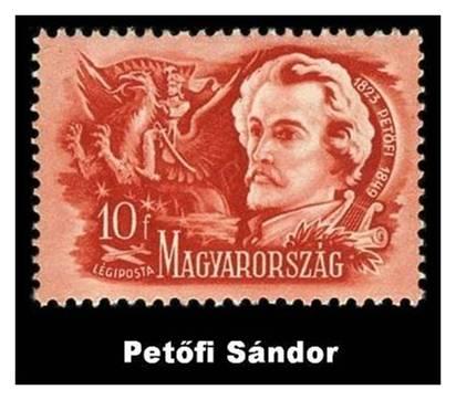 Bélyeg kvíz Petőfi Sándorról